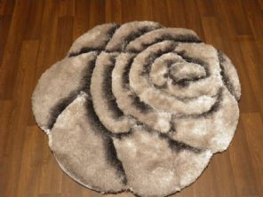 Area Rug Home 3D Rose Design Small Living Room Bedroom Floor Mats New Grey Nice